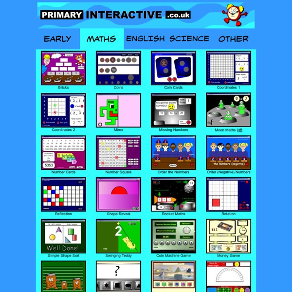 Primary Maths (Numeracy) Interactive Games