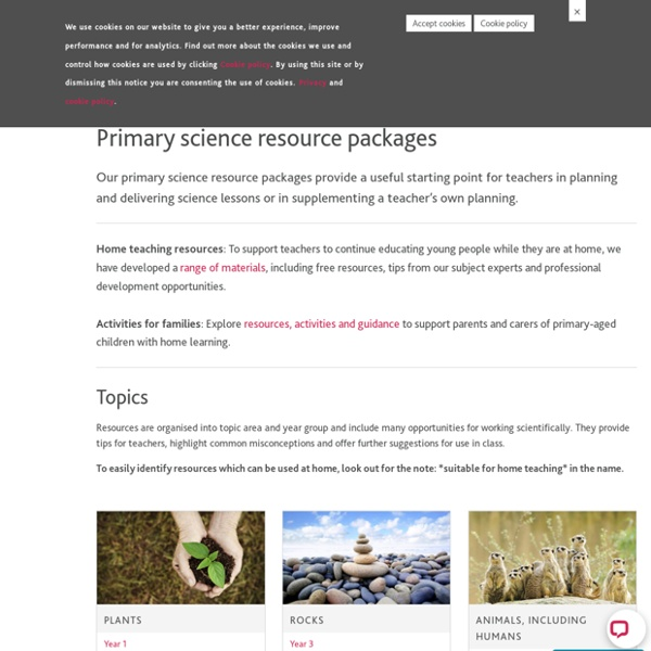 Primary science resource packages