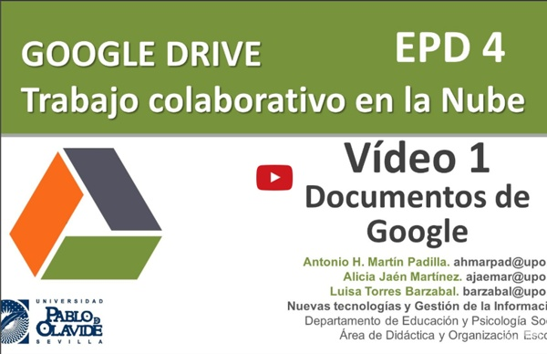 GOOGLE DRIVE 2015. 01 - Primeros pasos y uso de Google Documentos