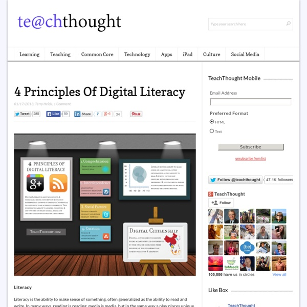 4 Principals Of Digital Literacy