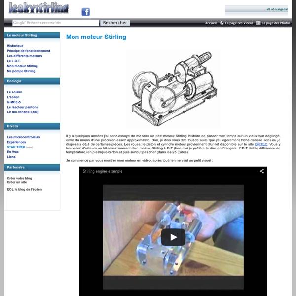 Principe du moteur Stirling