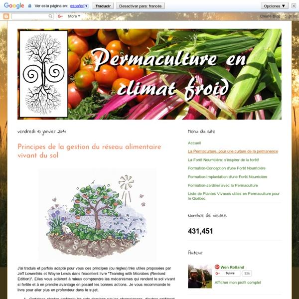 Gestion du réseau alimentaire vivant du sol