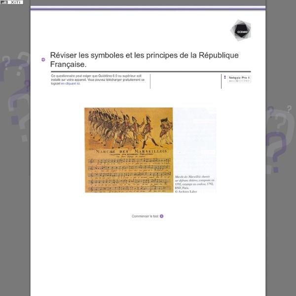 Réviser les symboles et les principes de la République Française.