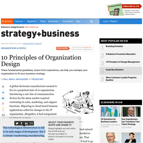 10 Principles of Organization Design