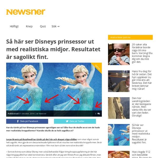 Så här ser Disneys prinsessor ut med realistiska midjor. Resultatet är sagolikt fint. - Newsner