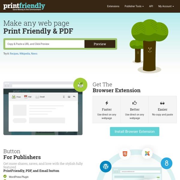 Print Friendly &PDF