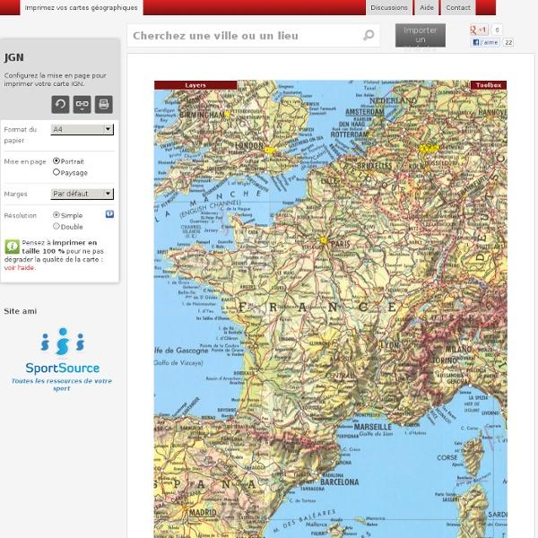 Imprimez vos cartes géographiques