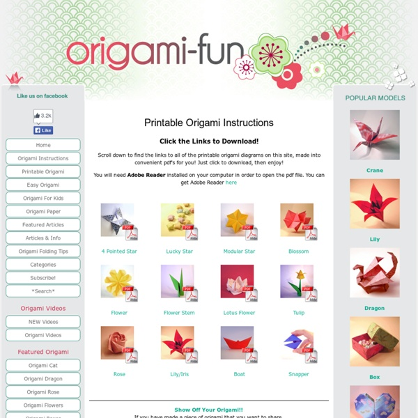 Printable Origami