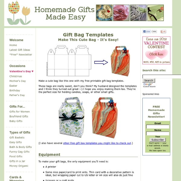 Printable Gift Bag Templates - Cute Bags with Handles