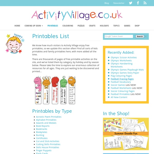 Printables List