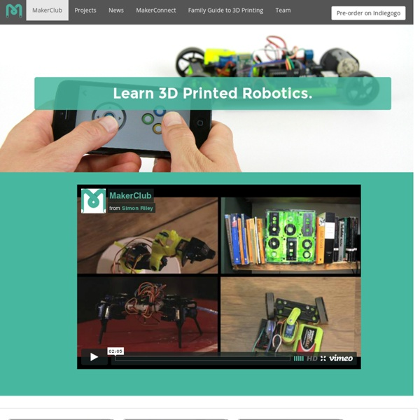 3D Printed Robotics for Everyone