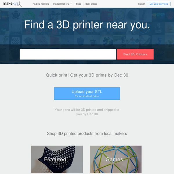 3D printing services in your neighborhood