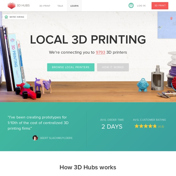 3D Hubs: Local 3D printing services and 3D Printers