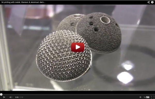 3d printing with metal, titanium & aluminum demo by EOS ...