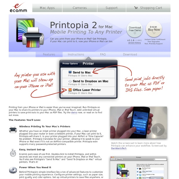 Printopia - AirPrint to Any Printer - Print from iPad - Print from iPhone