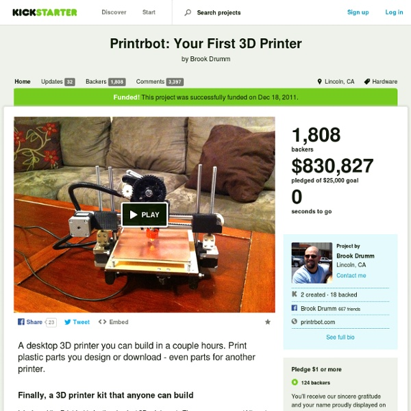 Printrbot: Your First 3D Printer by Brook Drumm