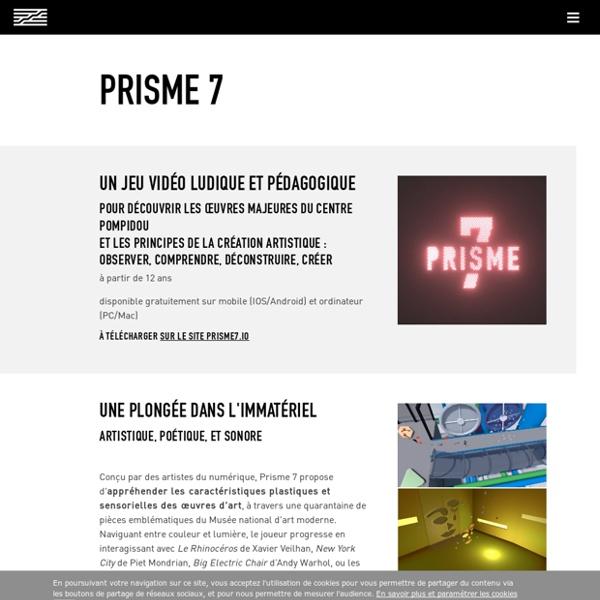 Prisme 7: un jeu vidéo ludique pour découvrir les oeuvres majeures du Centre Pompidou