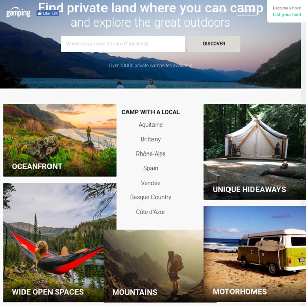 Private Camping Rentals, Gardens and Backyards for rent · Gamping