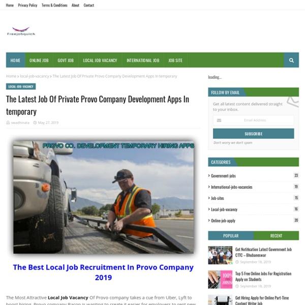 The Latest Job Of Private Provo Company Development Apps In temporary