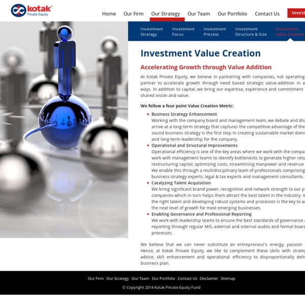 Kotak Private Equity Growth Fund - Investment Value Creation - Kotak Private Equity