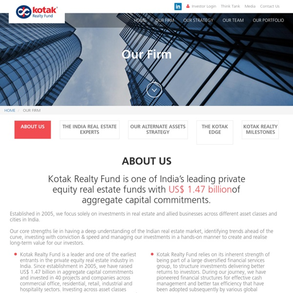 Investing in Real Estate Funds - Kotak Realty Fund