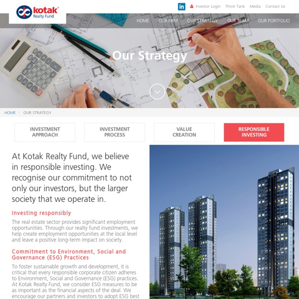 Real Estate Funds India - Kotak Realty Fund