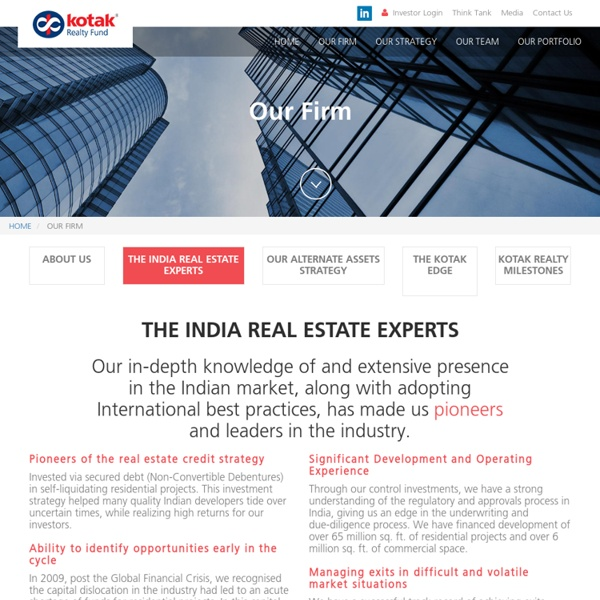 Realty Funds in India, Realty Fund Invetsments - Kotak Realty Fund