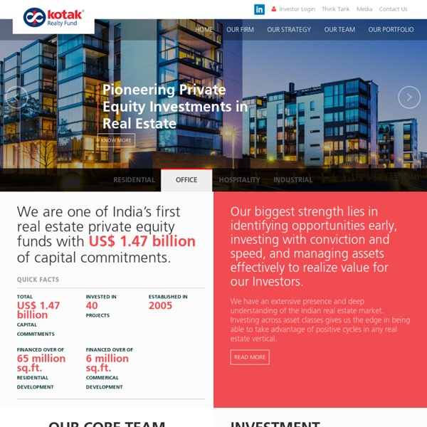 Real Estate Private Equity funds in India - Kotak Realty Fund
