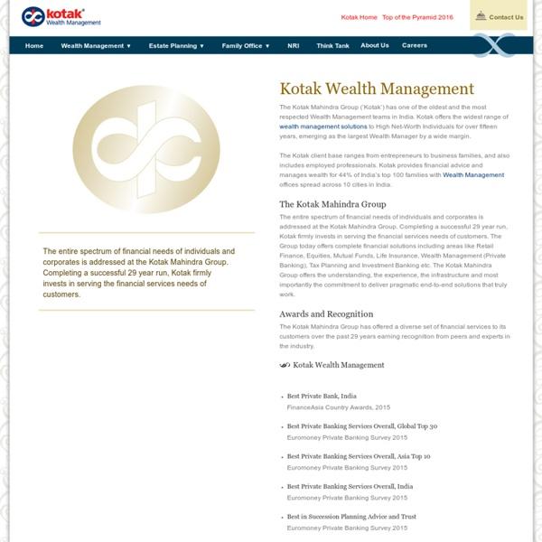 Private Wealth Management Services - Kotak Wealth Management