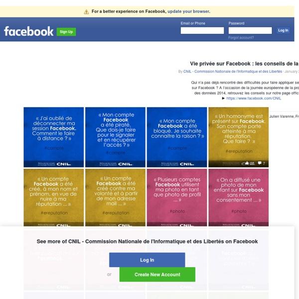 Vie privée sur Facebook : les conseils de la CNIL