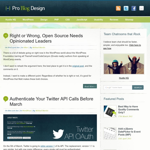 Pro Blog Design - How To Design a Better Blog
