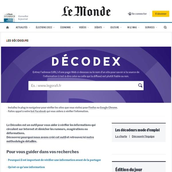 Vérification grâce au Decodex du Monde.fr.