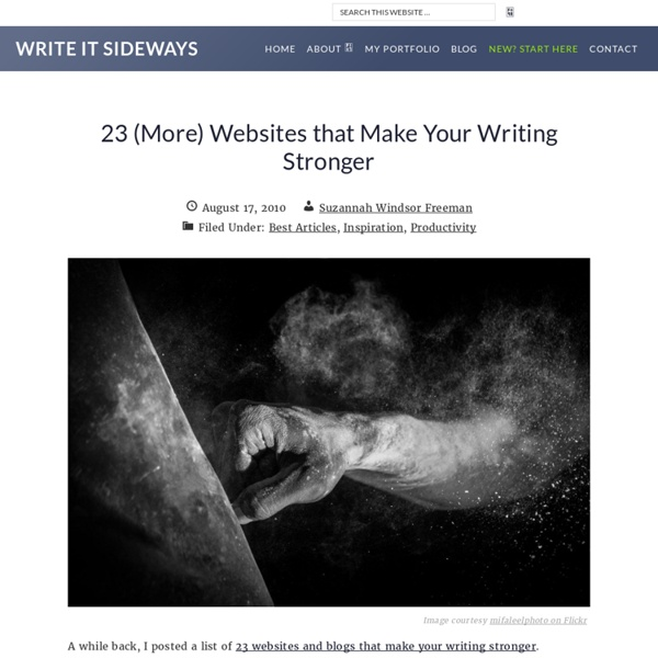 23 (More) Websites that Make Your Writing Stronger