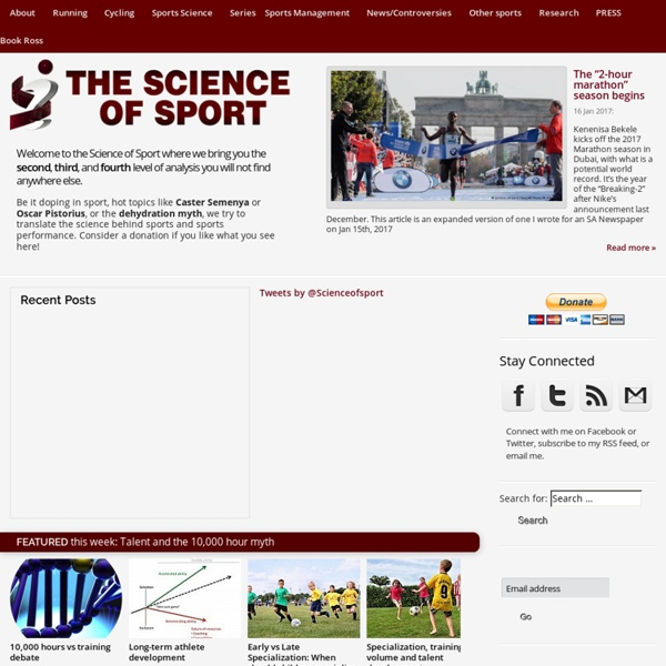 Home - The Science of Sport