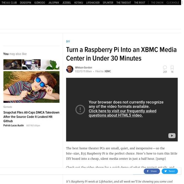 Build a XBMC Media Center with a $35 Raspberry Pi