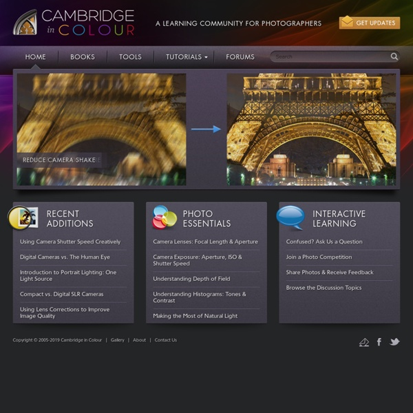 Cambridge in Colour - Photography Tutorials &Learning Community