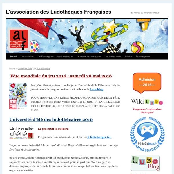 ALF : Association des Ludothèques Françaises