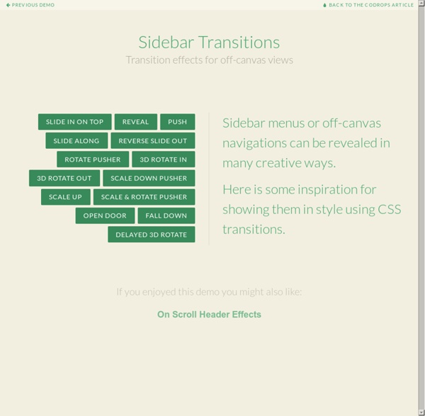 Sidebar Transitions | Pearltrees