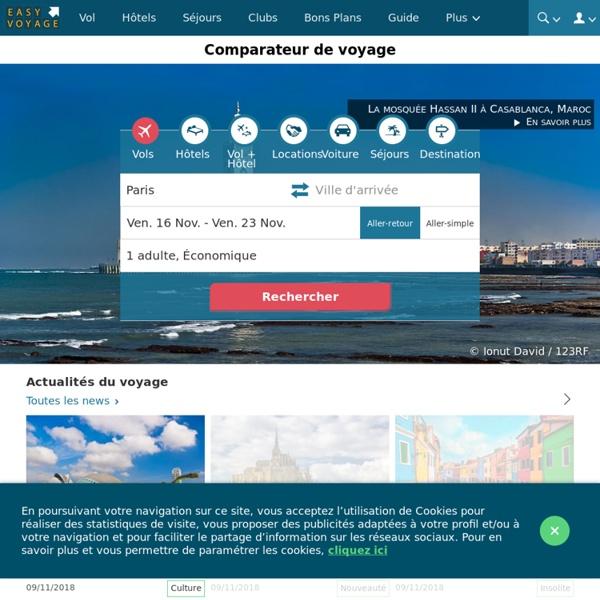 Comparateur de voyage et de vols - Easyvoyage