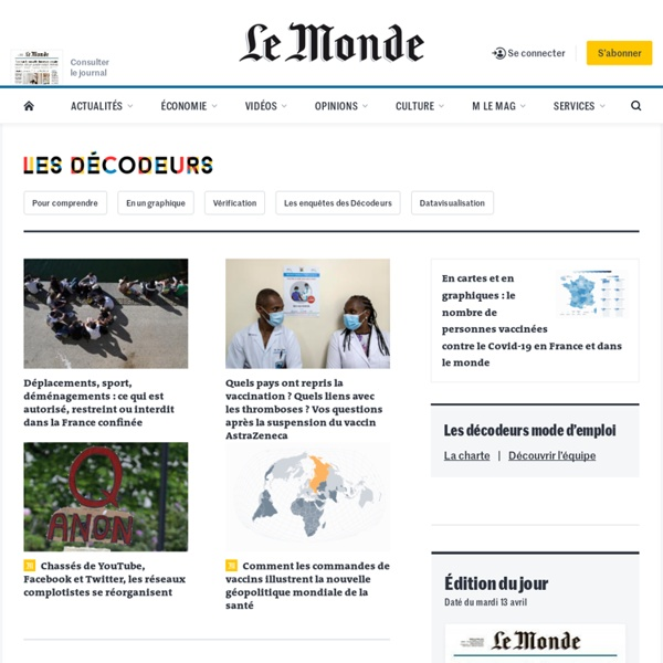 Les décodeurs : Toute l'actualité sur Le Monde.fr.