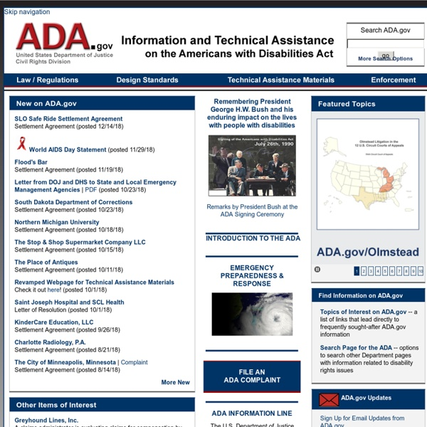 Department of Justice ADA Home Page