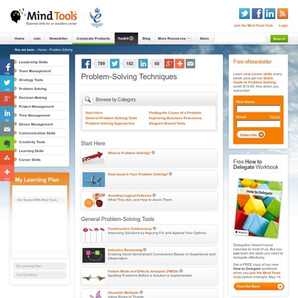 Problem Solving Skills from MindTools