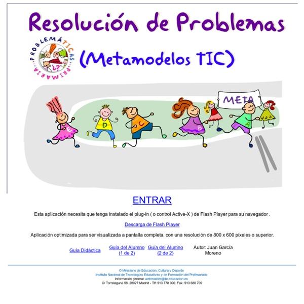 Problemáticas Primaria. Resolución de problemas. Metamodelos TIC