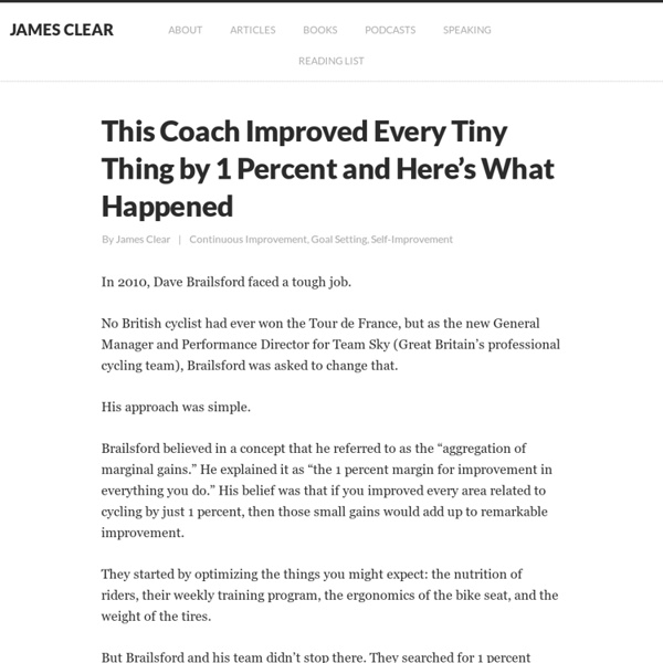 Process Improvement: This Coach Improved Every Tiny Thing by 1 Percent