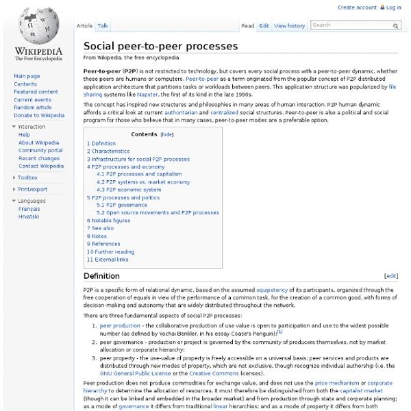 Social peer-to-peer processes
