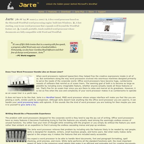 FREE Word Processor Based on Microsoft's WordPad Engine
