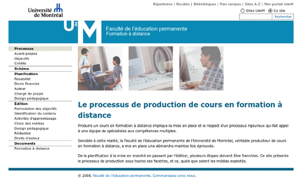 Le processus de production de cours en formation à distance