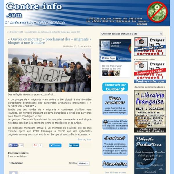 « Ouvrez ou mourrez » proclament des « migrants » bloqués à une frontière