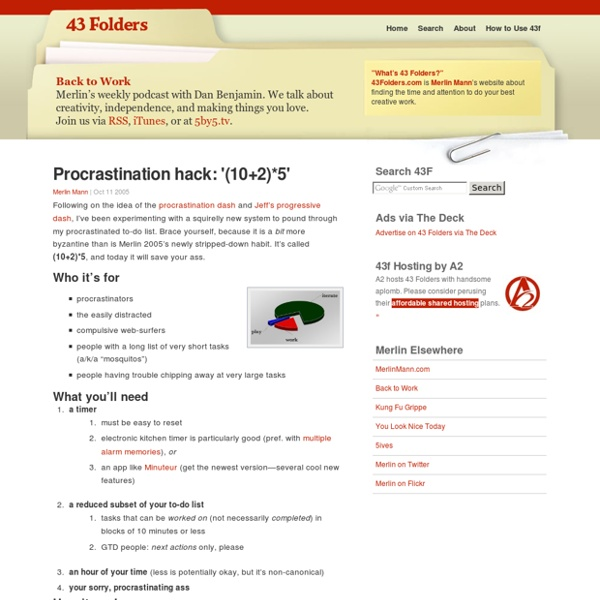 Procrastination hack: '(10+2)*5'