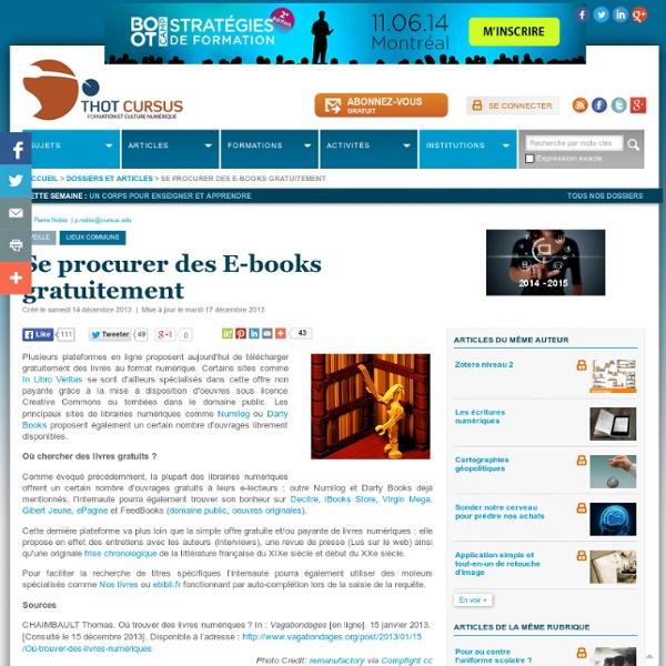 Se procurer des E-books gratuitement